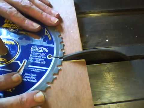How I Sharpen Table Saw Blades In Real Time Youtube