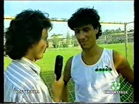 Marco Delvecchio, giovane promessa del Venezia presentato da Alberto Zaccheroni e Max Caniato (1992)