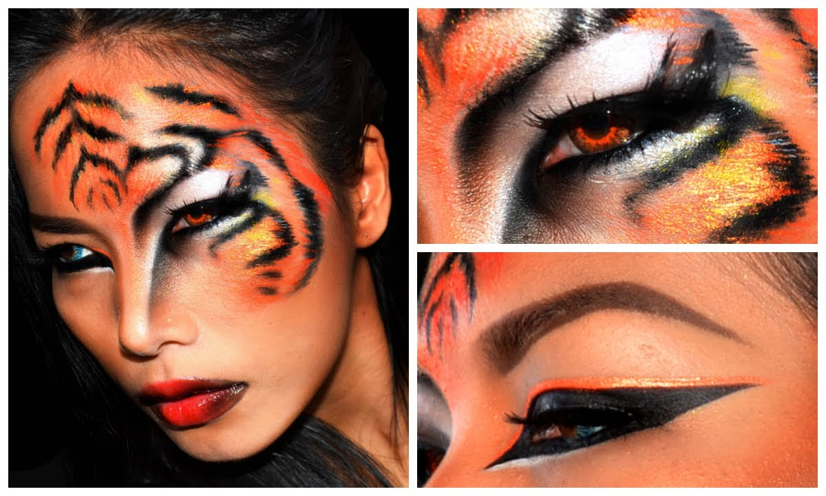 tiger halloween makeup look youtube