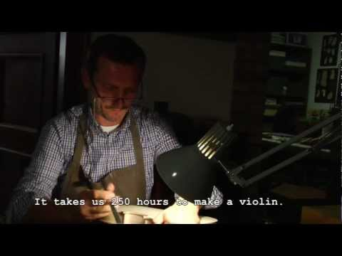 Traditional violin craftsmanship in Cremona klip izle