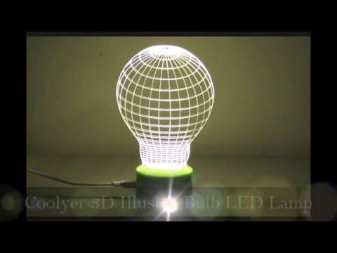 Coolyer 3D Illusion Bulb LED Novelty Lamp