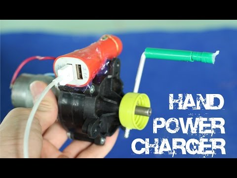 DIY powerful Hand Power USB Charger
