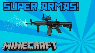 Super Armas no Mine! - Modern Weapons (Flan's Mod) - Review + [Download pasta '.minecraft']
