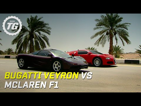Bugatti Veyron vs McLaren F1 - Top Gear - BBC