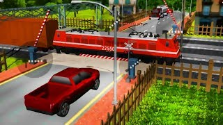Railroad Crossing 2 - Kids Trains Game | Funny Cars | Best Android Gameplay HD