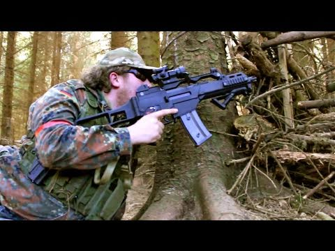 Airsoft War WE G36C. ICS CXP M4 POW Scotland HD