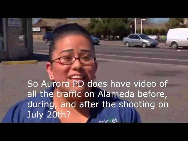 Surveillance Footage Of James Holmes On Alemeda Ave, Does Aurora PD