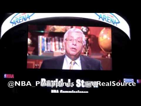 NBA Commissioner David Stern announces NBA game in the Philippines