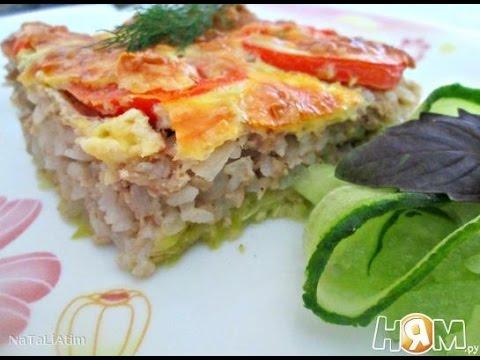 Запеканка из кабачков, фарша и риса  Пошаговый рецепт