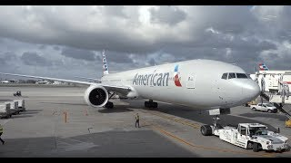 American Airlines Boeing 777-300ER / Miami to Los Angeles + L.A. Tour / 4K Video