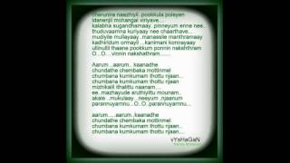 Arum aarum(Nandhanam) karoake with lyrics..By..vYsHaGaN