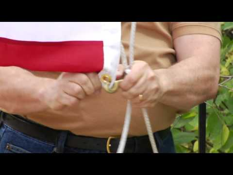 How to Handle & Fold the American Flag : How to Raise the Flag