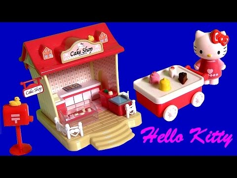 Play Doh Hello Kitty Cake Shop Playset  キャラクター練り切り ハローキティ Pasticceria Patisserie With Ice-cream Cart video