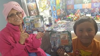 My Mom Opens FIRST EVER BOOSTER PACK!! Q and A with GRANDMACORLLECTOR! HAPPY POKEMON MOTHERS DAY!!