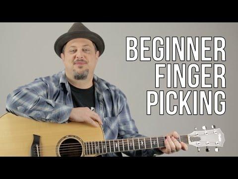 Beginner Fingerpicking Guitar Lesson - How To Play Fingerstyle Guitar For A Beginner