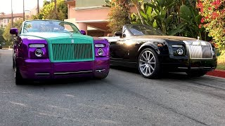 #RDBLA Crazy Purple Rolls Royce, Rodeo Dr has NEVER seen this!