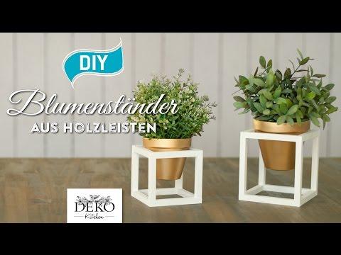 DIY: coole Blumenständer aus Holz selber machen [How to] Deko Kitchen