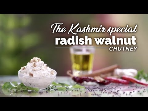 Kashmir Special Radish Walnut Chutney | Recipe | Winter Chutney | Yogic Organic Living