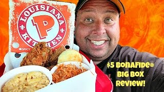 Fried Chicken, Cole Slaw, Mashed Potatoes, and Biscuit from Popeyes Louisiana Kitchen [MukBang]