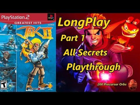Jak II - Longplay All Secrets (Part 1 of 2) 200 Precursor Orbs Full Game Walkthrough (No Commentary)
