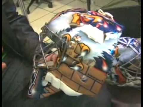 Nikolai Khabibulin&#039;s Oiler Mask