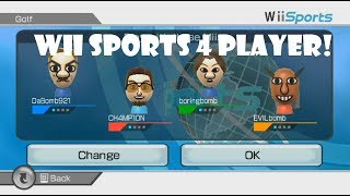 Wii Sports Golf  4 Player Who Will Win?
