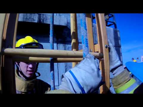 Antelope Valley College Fire Academy Class 4 - 35 foot extension ladder