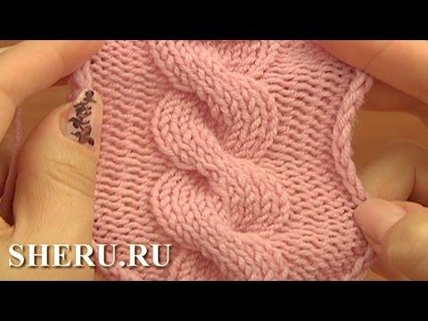 12 Вязание кос спицами