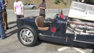 Jay Leno and his Bugatti Type 35 on Mulholland