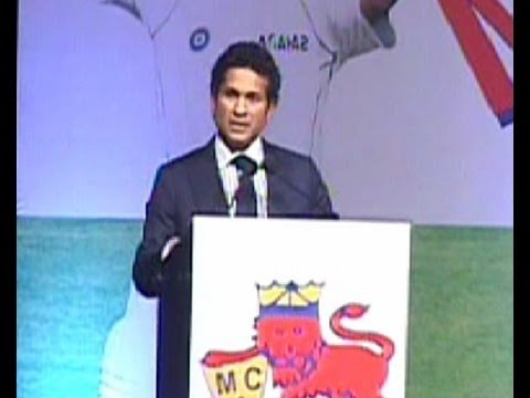 Sachin Tendulkar Marathi Speech At Mca Function video