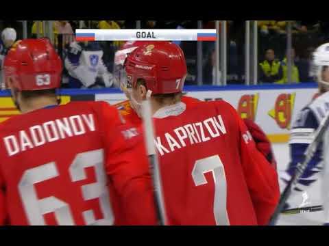 Видео IIHF Россия-Франция 7:0 голы. ЧМ-2018 по хоккею в Дании. 4 мая 2018 г.