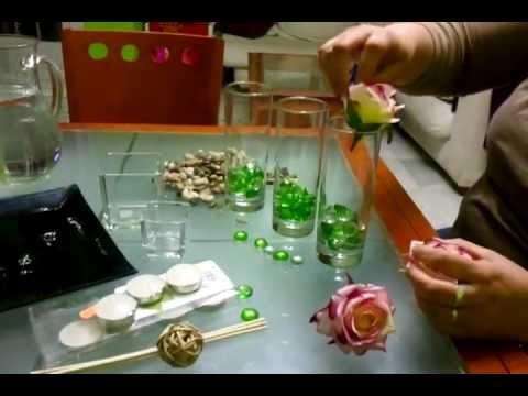 Centros de flores y velas faciles youtube - Centros con velas ...