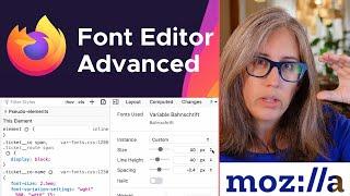 Firefox Font Editor — Advanced