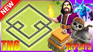 New BEST Th6 Trophy/War Base With REPLAYS +Proof | The Protector | Town Hall 6 (CoC) Clash of Clans