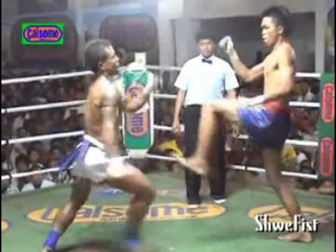 Myanmar Lethwei....(Saw Shark) vs. Muay Thai