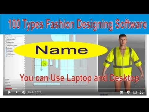 100 types fashion designing software name of fashion designing course | variety types software |