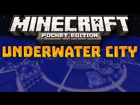 ATLANTIS! - Huge Underwater City Map - Minecraft Pocket Edition