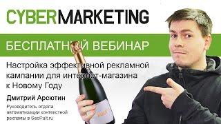 Настройка эффективной рекламной кампании для интернет-магазина к Новому Году. Дмитрий Арсютин