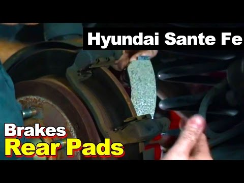 How To Remove Replace Install Rear Disc Brake Pads On A 2003 Hyundai Sante Fe (Same As 2001-2006)