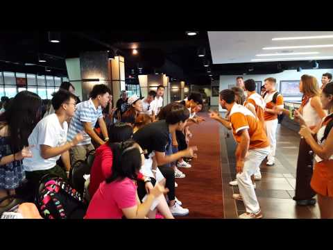 Longhorn Spirit with Students from Shanghai University of Sport