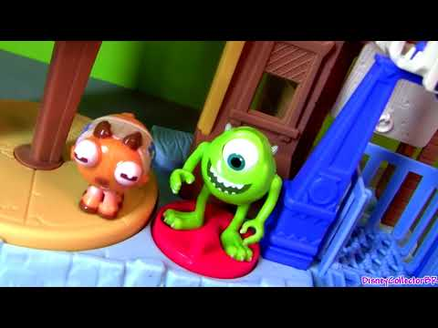 Imaginext Monsters University Row Playset Disney Pixar Monsters Inc 2 Toys Review by Disneycollector