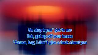 Dua Lipa  - IDGAF (Kor Karaoke , Instrumental)