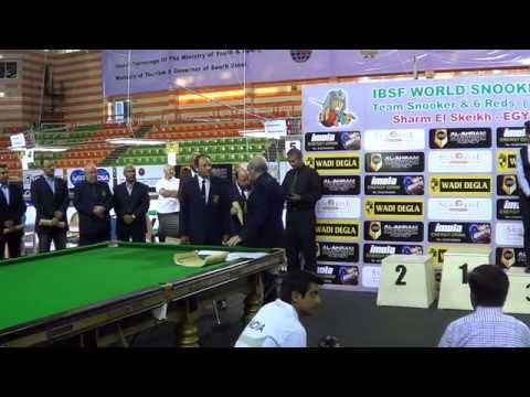 Prize Distribution - IBSF World Teams and 6Reds Championships 2014