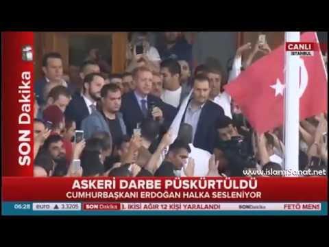 Darbe Girişimi Püskürtüldü / Recep Tayyip Erdoğan Tarihi Sabah Konuşması 16 Temmuz / İhanet Önlendi