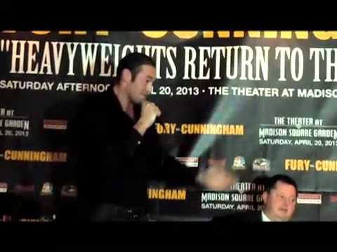 Tyson Fury and Steve Cunningham go at it during presser EsNews Boxing