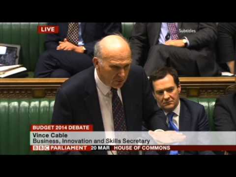 Budget 2014 - Vince Cable MP's response