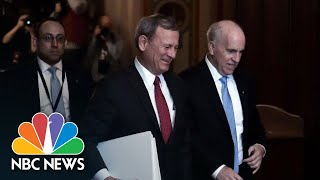 Chief Justice Roberts Arrives To Be Sworn In For Senate Impeachment Trial | NBC News