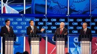 SOPA - Ron Paul, Gingrich & Romney at GOP Debate
