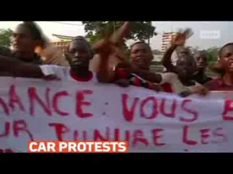 mitv - Muslim Seleka supporters protest France's involvement in Central African Republic