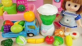 Baby doll and fruit juice maker toys baby Doli kitchen play